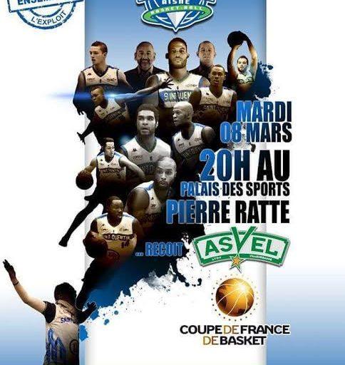 Evènement – 08/03/2016 – Match de basket Saint Quentin